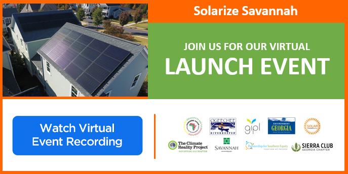 Solarize Savannah Virtual Launch Event